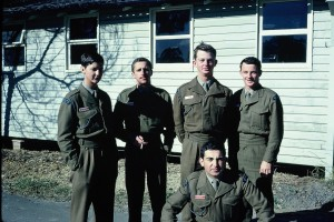 Holsworthy, 1971 prior to our posting to PNG Back row: Bob Strachan, Andrew Dalziel, John Hain, Ross Yates Front row: John Fragomeni