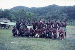 Pre Ocs Soldiers RNB and Captain at Menari