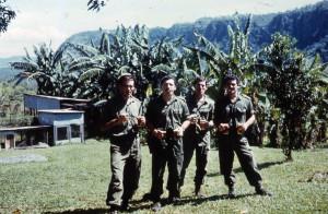 Sgt Butcher + Captains & Lt, 2 beers each & cigar after Kakoda