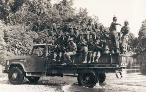8 Pl members on an Admin truck. Used to transport the patoon from Conga to Moratania