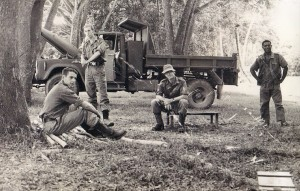 Chalkies at Brown River - Sgt. Steve Roxborough is sitting on the left.