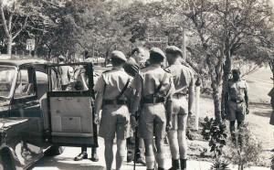 Duke of Kent preparing to inspect the barracks