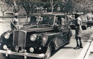 Duke of Kent arriving outside C Company