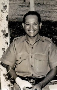 Holmes Tamarua - I think he was in radiology. I trained him to be the first local treasurer of the Sergeants Mess