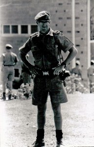 Sgt Peter Chard, taken on the day of the royal visit, I was BOS that day. C Coy in background