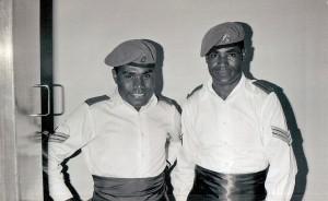 Sgts Peter Karake & Max Hambo at a formal function