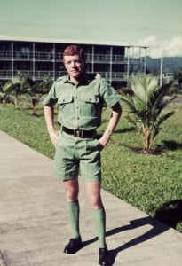 005 Sgt. Geoff Peters outside the Education Centre