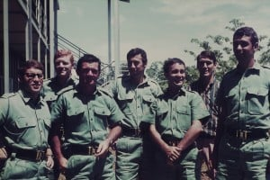 012 From Left: Sgt. Andrew Remenyi, Sgt. Geoff Peters, Capt. Dick Robertson, Sgt. David Pollock, unsure, Lt Tom Hall, Sgt. Les Rowe