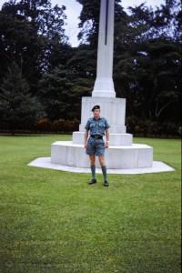017 Geoff at Lae War Cemetery