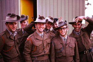 024 Geoff Peters and mates before a parade in Australia