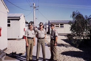 025 Geoff Peters and mates dressed up Recruit Training at Puckapunyal