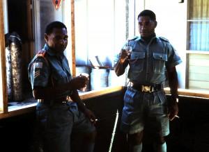 Sgts. Lodi Reni and Willy Kana