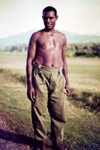 Sgt Jack Ako at end of patrol