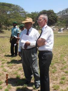 Ken Noga (ex-commander of the PNGDF) and Major Philip Maxwell (Chaplain)