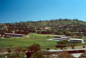 Murray Barracks seen from TX Hill in 1970
