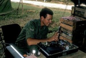 Cpl Middleton and radio