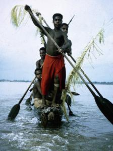 Sepik River canoe, 1973