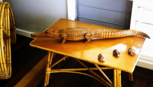 Locally carver crocodile