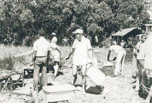 1PIR Sergeants Mess picnic at Kapa Kapa with WO2 John Turton