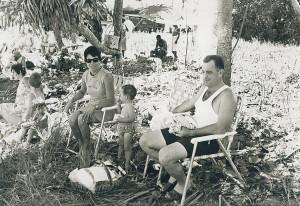 Kapa Kapa picnic with Sgt Tom Keegan and Anna and family.