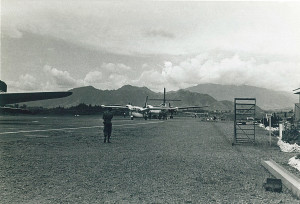 Mt Hagen airport in the highlands of TPNG on 10-6-1968