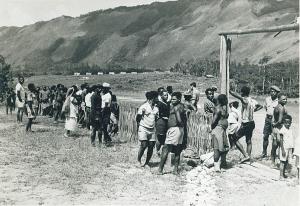 Photo taken in June 1968 at Oksapmin Lochsaffen in the Sepik district