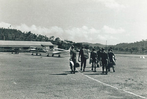 Returning home to Jackson's Airport, Port Moresby from Caribou trip to Lae and the highlands on 11-6-1968 by staff of RAAEC at Taurama Barracks