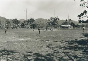 Saturday morning hockey competition at the O.T.C. grounds in Port Moresby
