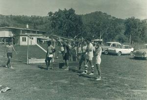 Sports at 1PIR August 1968 L-R  Ian Hodder, John Semosa, Bob Green, John Gibson, Norm Hunter and Roger Howard