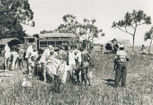 The serving end of  1PIR Mess Parade for members of the Sergeants Mess at Kapa Kapa (1968)